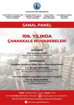 """""""106. Yılında Çanakkale Muharebeleri"""" Konulu Sanal Panel"""
