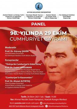 98. Yılında 29 Ekim Cumhuriyet Bayramı